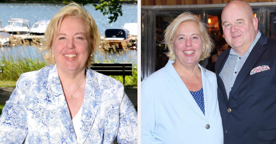 Suzanne Axell och sambon Jörgen
