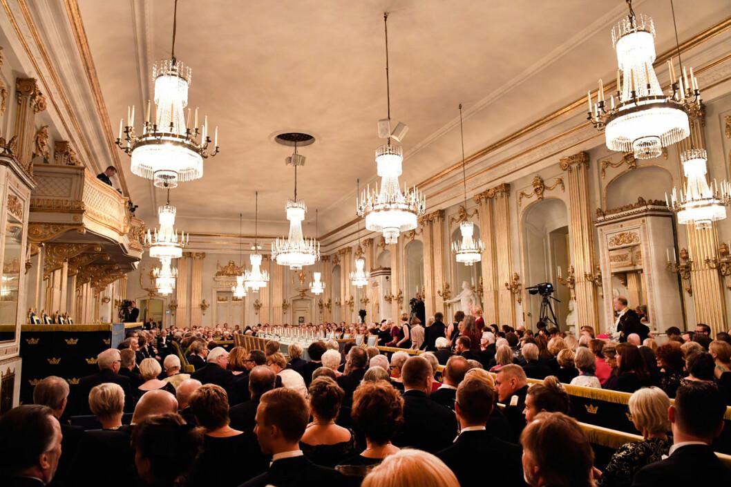 Så här har det sett ut tidigare år i Börssalen under Svenska Akademiens högtidssammankomst.