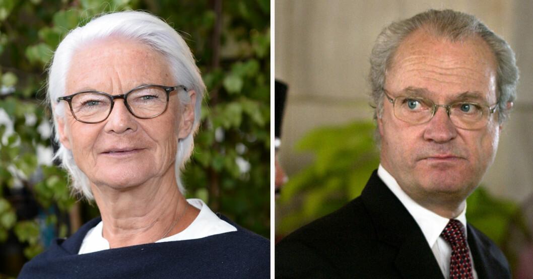 Elisabeth Tarras-Wahlberg och kung Carl Gustaf