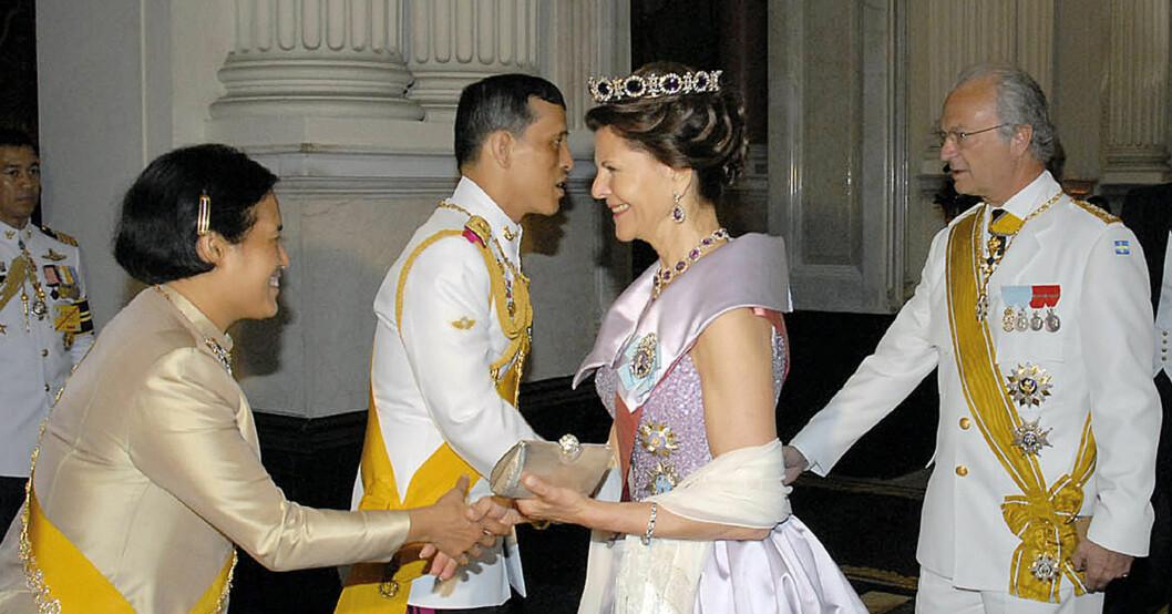 Thailands kung Vajiralongkorn Kung Rama X Prinsessan Maha Chakri Sirindhorn Drottning Silvia Kungen