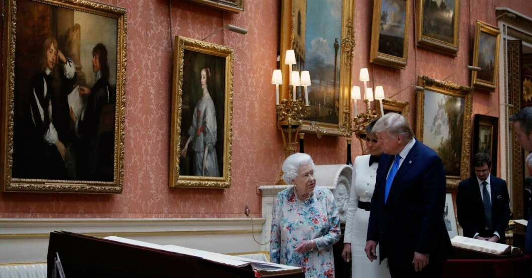 Elizabeth och paret Trump