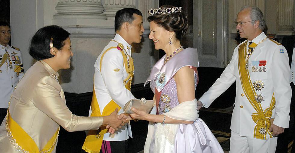 Thailands kung Vajiralongkorn Kungen Drottning Silvia