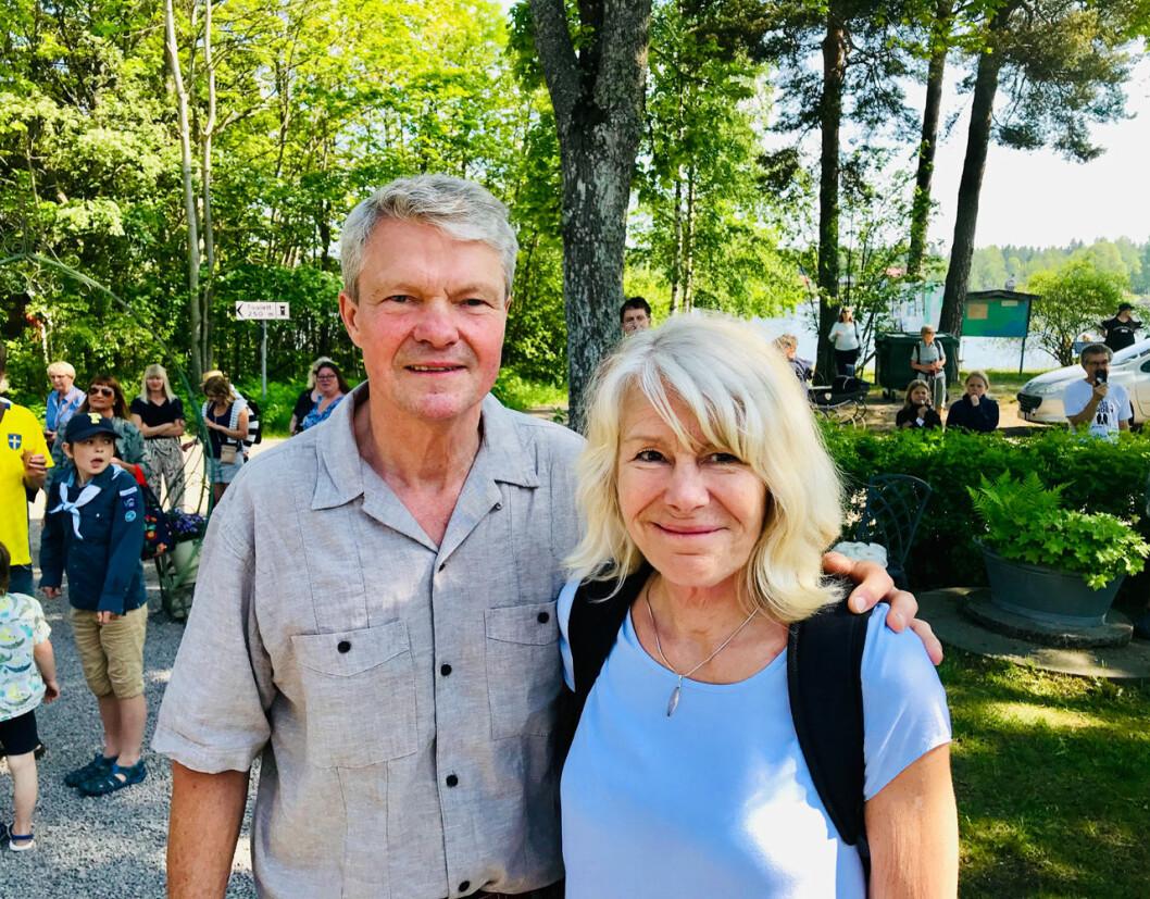 Nils Westling och hans fru Ann-Catrin Westling var med på kronprinsessan Victorias vandring i Gästrikland.