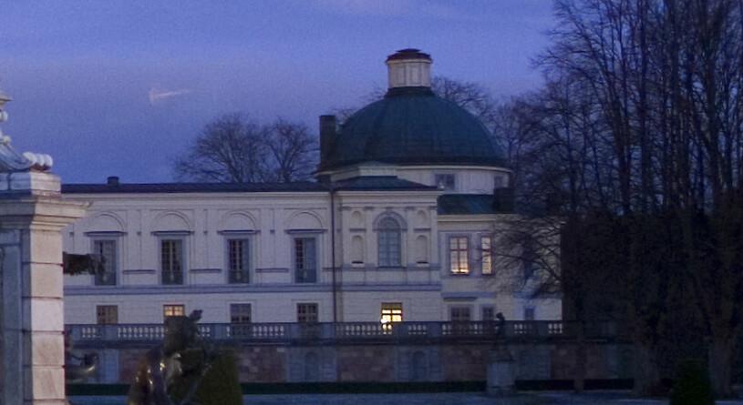 Våningen på Drottningholm där kungaparet bor privat våning