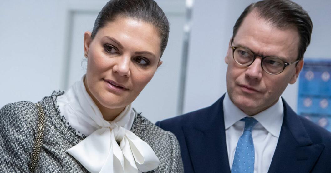 Kronprinsessan Victoria och prins Daniel i Lund.