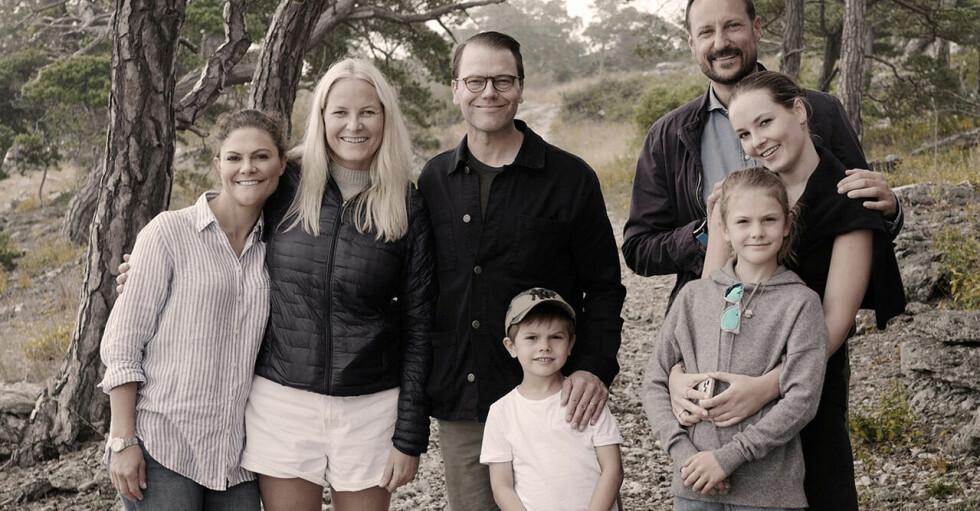 Mette-Marit och Victoria med familjer