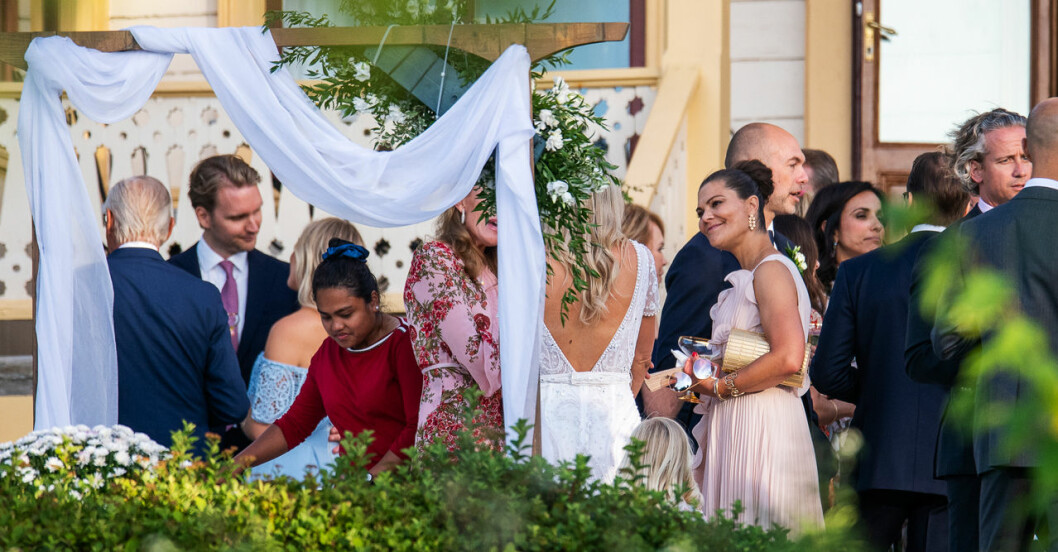 Kronprinsessan Victoria på Andrea Brodins bröllop