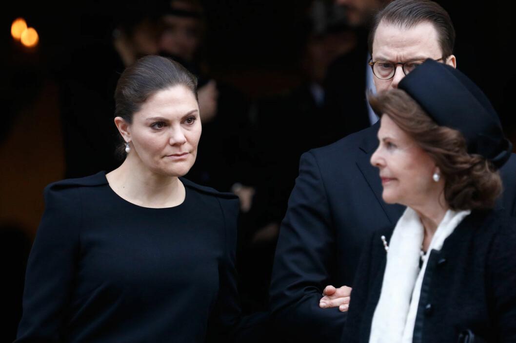Kronprinsessan Victoria var gripen efter Dagmar von Arbins begravning.