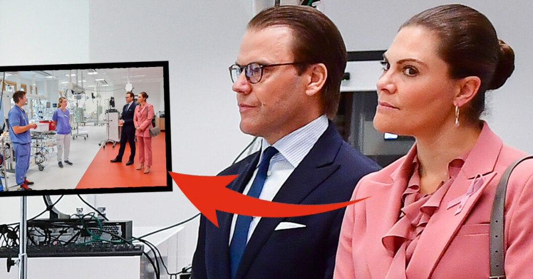 Kronprinsessan Victoria Prins Daniel Ecmo-Centrum Karolinska