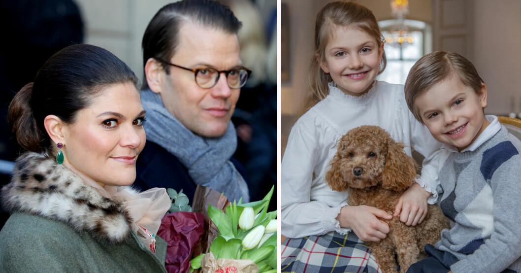 Kronprinsessan Victoria, prinsessan Estelle och prins Oscar