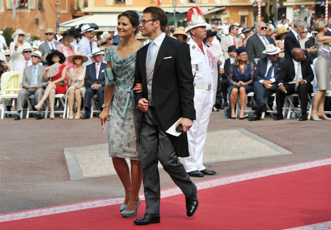 Victoria och Daniel i Monaco på Albert och Charlenes bröllop.