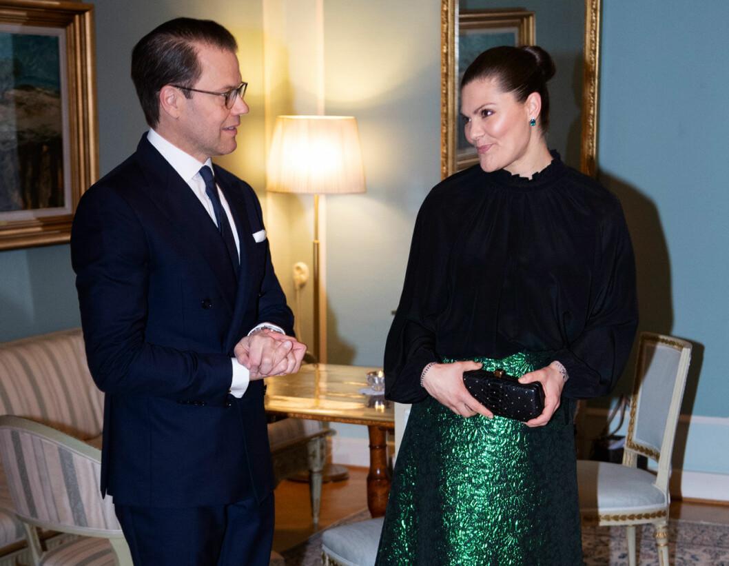 Kronprinsessan Victoria och prins Daniel på middag hos Skånes landshövding.