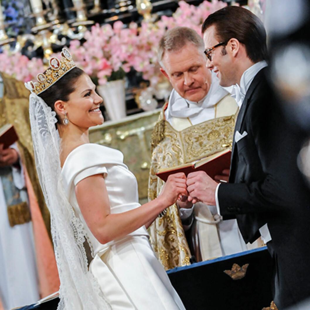 Kronprinsessan Victorias privata bild inifrån bröllopet 19 juni 2010.