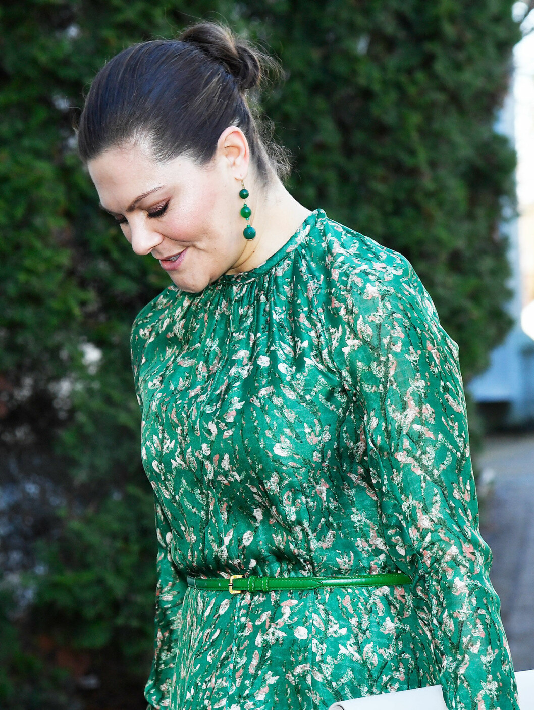 Kronprinsessan Victoria i grönt.