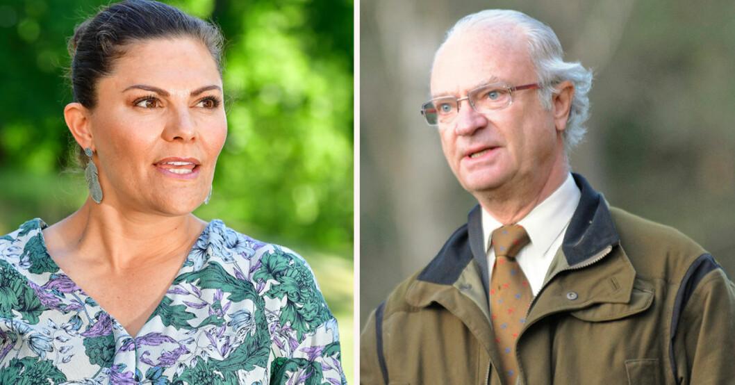 Kronprinsessan Victoria och kung Carl Gustaf