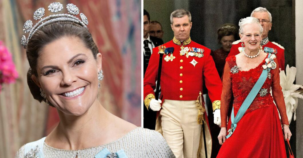 Kronprinsessan Victoria ska fira Margrethes 80-årsdag i april 2020.
