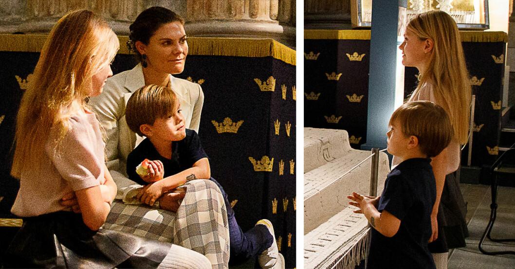 Prinsessan Estelle prins Oscar kronprinsessan Victoria