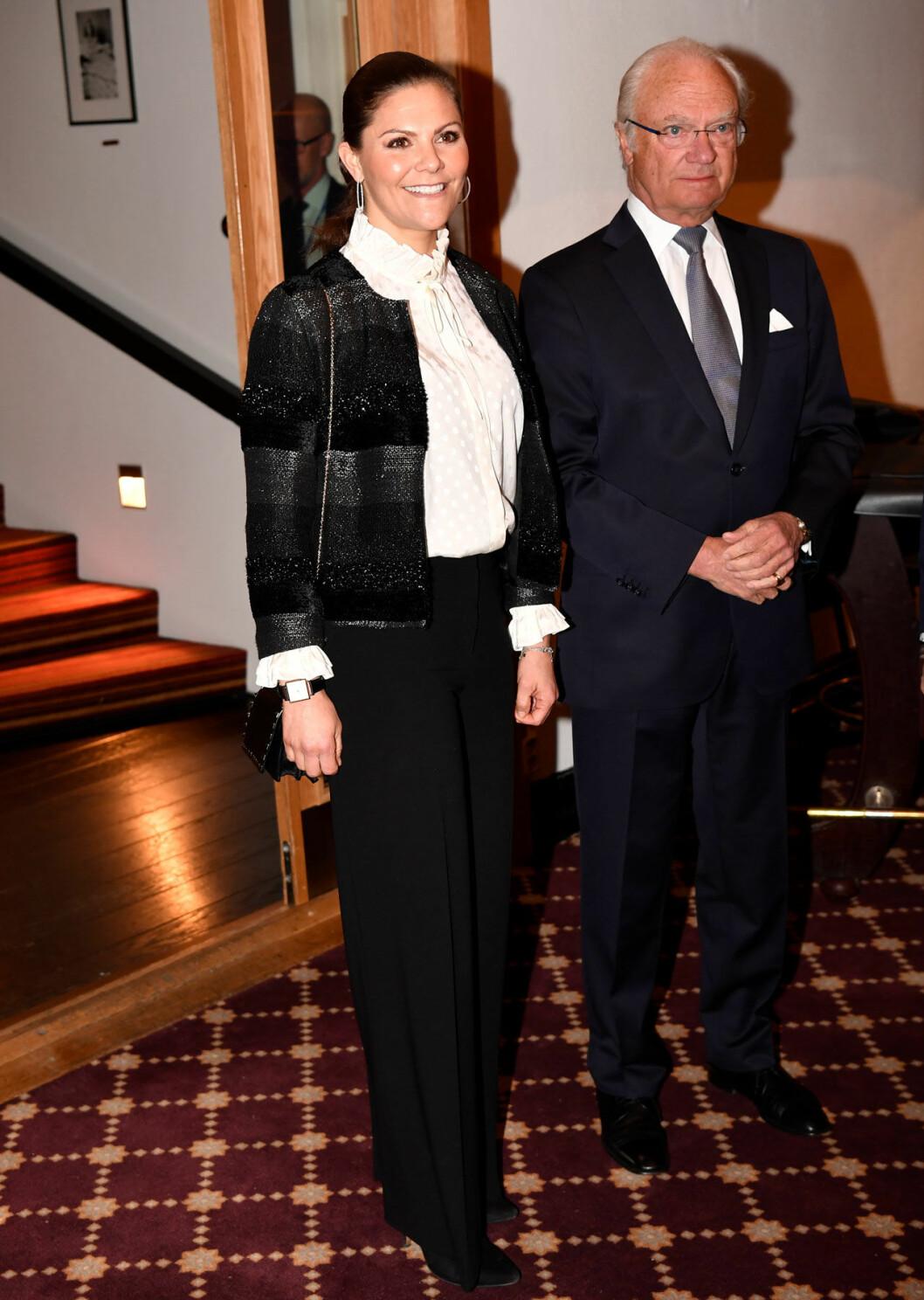 Victoria och kungen i Sälen.
