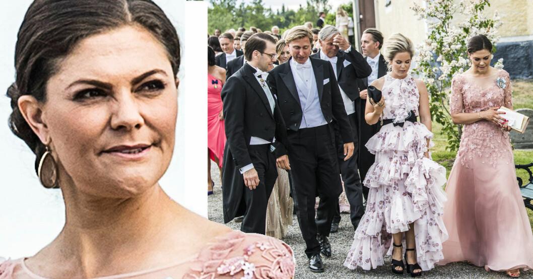 Kronprinsessan Victoria och prins Daniel med Märta Schörling och hennes man Linus Andréen.