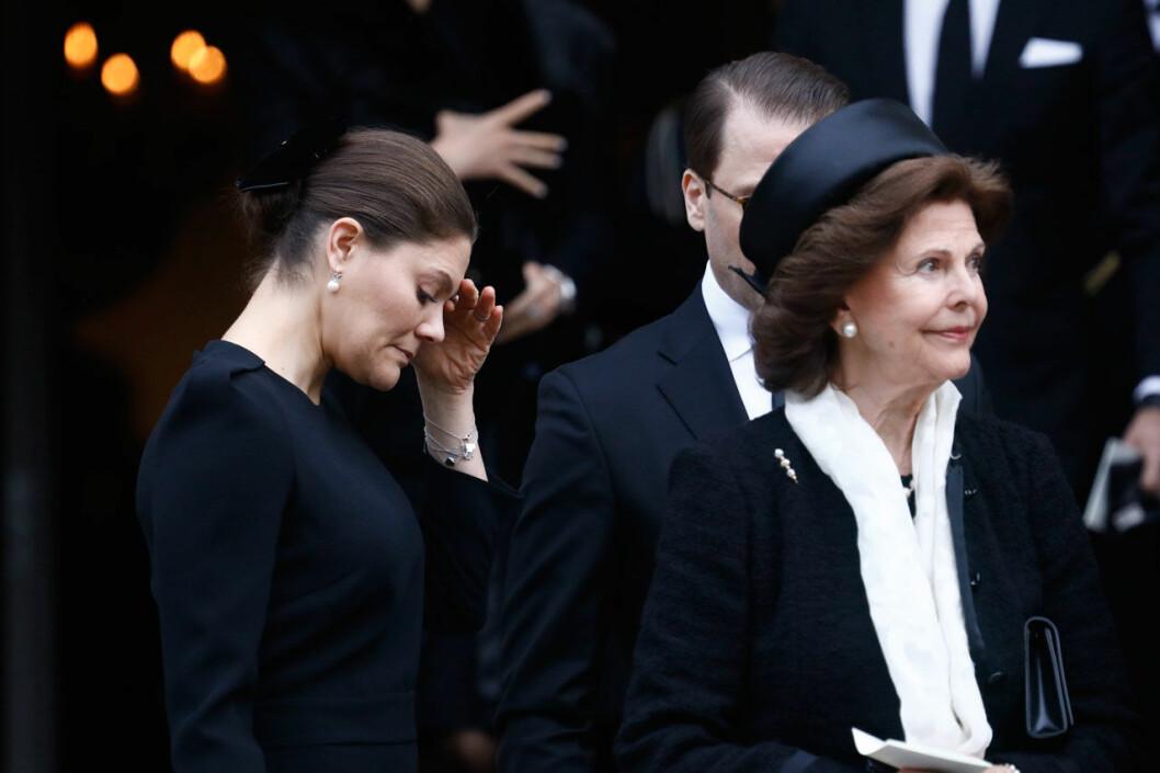 Kronprinsessan Victoria och drottning Silvia tog farväl av Dagmar von Arbin.