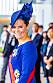 Svenska-flaggan-blått på kronprinsessan Victoria vid kröningen i Tokyo