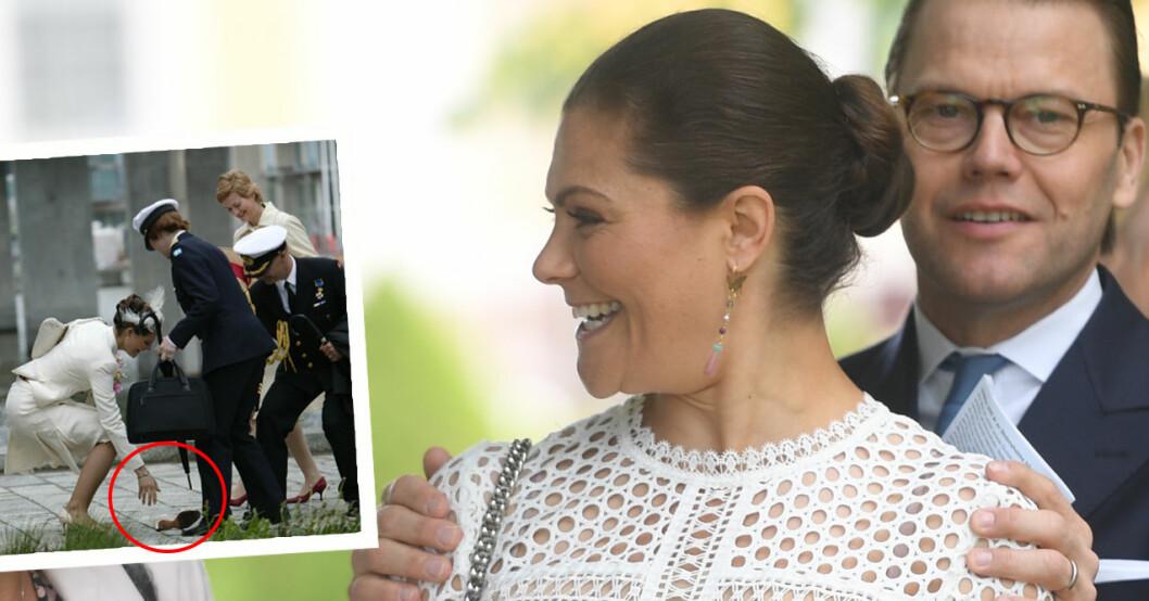 Kronprinsessan Victoria tappar skon