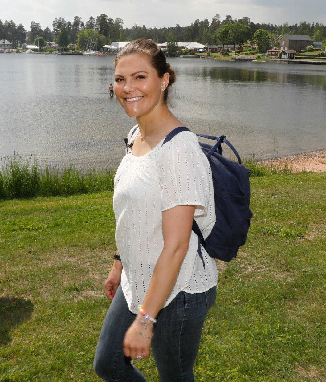 Kronprinsessan Victoria på landskapsvandring i Gästrikland.