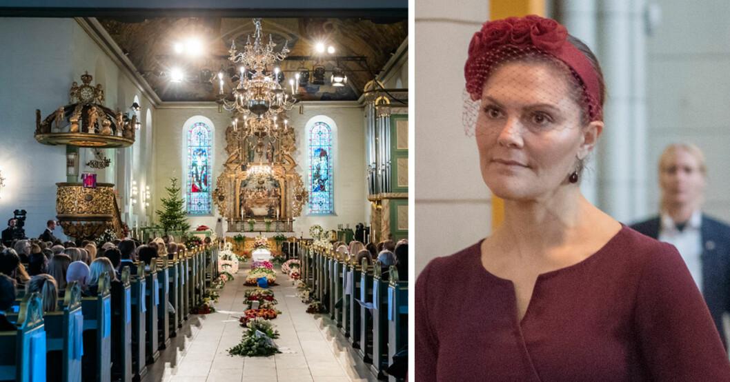 kronprinsessan victoria inte med på ari behns begravning