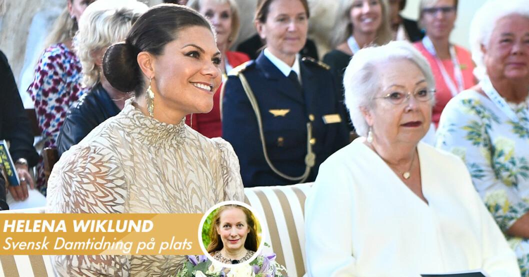 Kronprinsessan Victoria och prinsessan Christina Årets svenska kvinna 2021