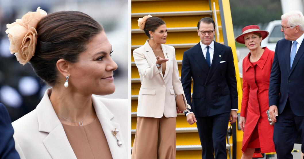 Kronprinsessan Victoria och prins Daniel med Tyslands presidentpar