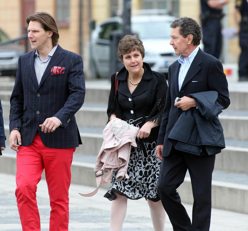 Walther Sommerlath med sina barn Patrick Sommerlath och Sophie Pihut, född Sommerlath