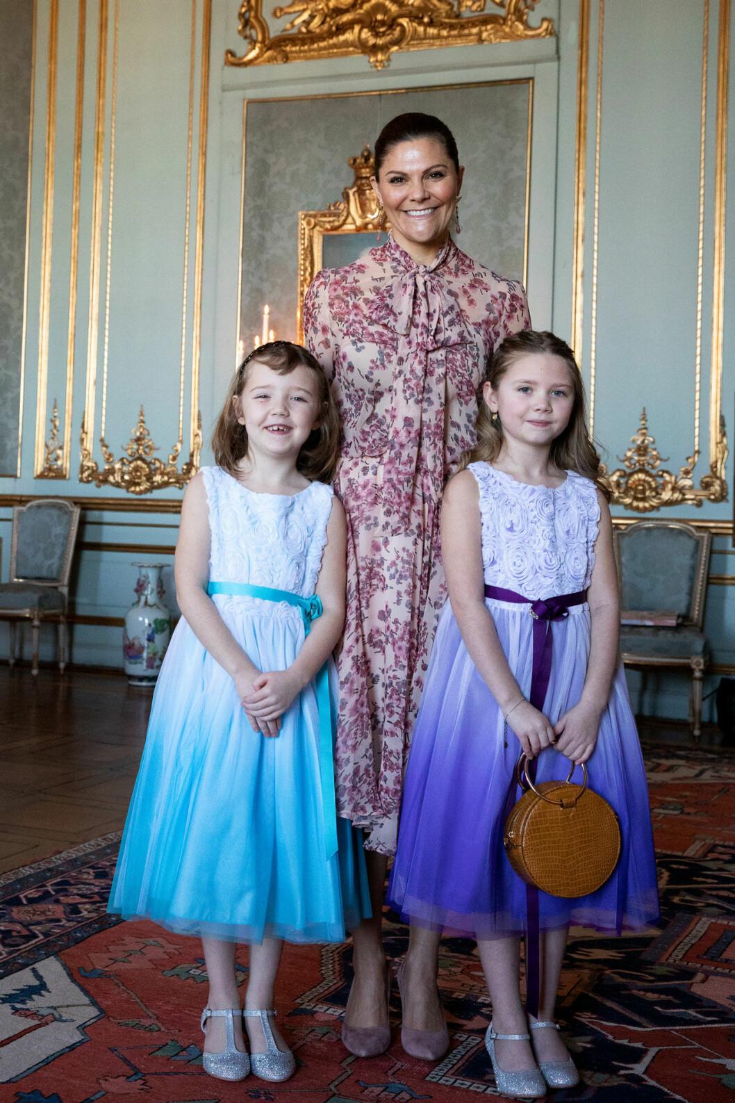 Min Stora Dag ordnade så att cancersjuka Emilia fick komma till slottet och träffa kronprinsessan Victoria.