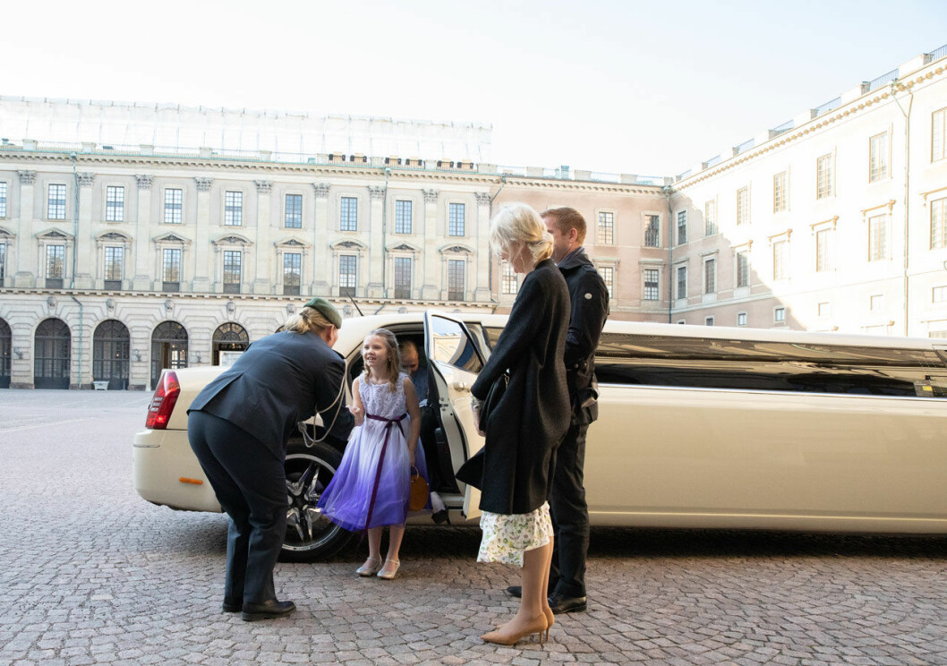 Emilia från Trelleborg fick komma till slottet och träffa kronprinsessan Victoria, tack vare Stiftelsen Min Stora Dag.