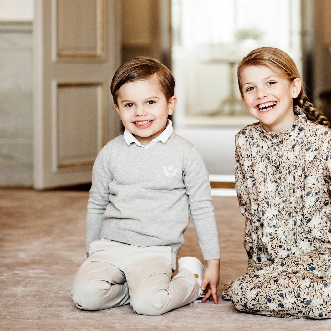Prins Oscar och prinsessan Estelle på Haga slott 2020.