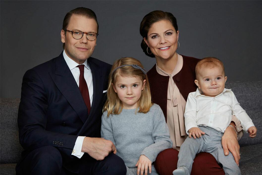 Kronprinsessfamiljens officiella familjebild 2017.