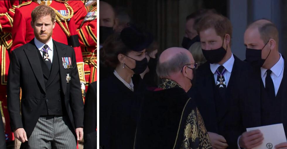 Prins Harry Prins William tillsammans på prins Philips begravning