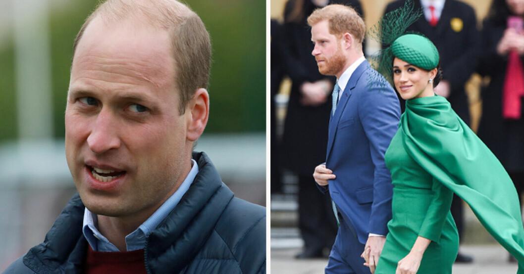 Prins William, prins Harry och Meghan Markle