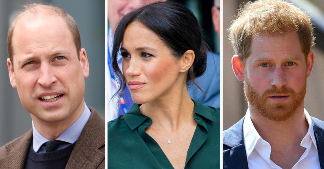Prins William, Meghan Markle och prins Harry