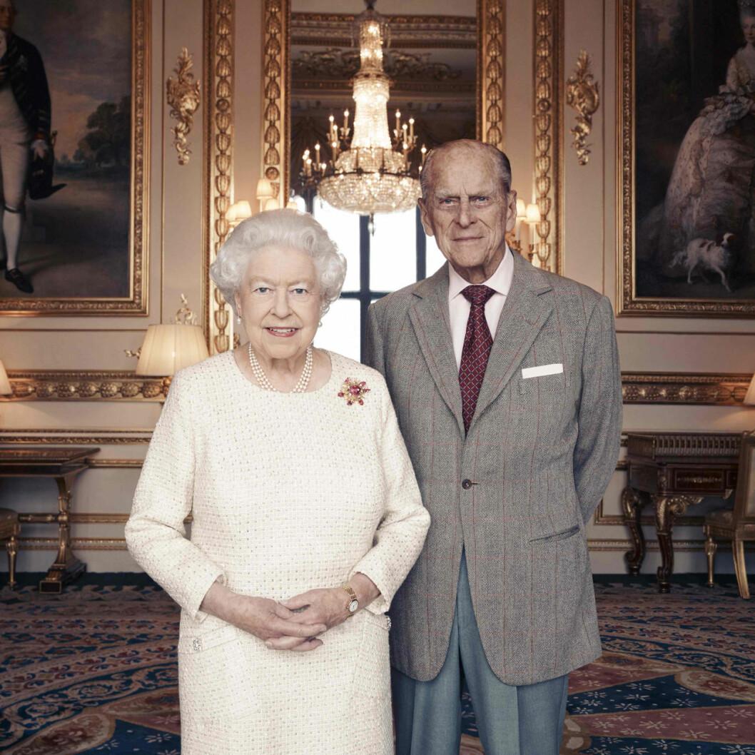 drottning Elizabeth med prins Philip.